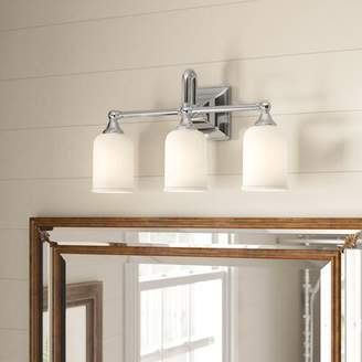 Birch Lane Birch LaneTM Heritage Beacon 3-Light Dimmable Chrome Vanity Light Heritage