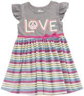 Epic Threads Striped Flutter Sleeve Dress, Little Girls, Created for Macy's