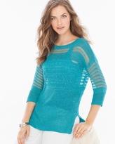 Soma Intimates Drew Yarn Sweater Turquoise