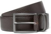 HUGO BOSS 3.5cm Brown Sopprin Full-Grain Leather Belt
