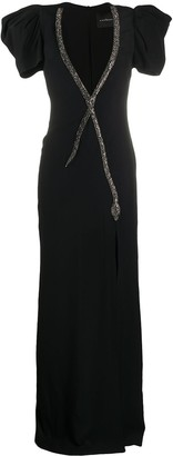 John Richmond Embellished Neck Gown