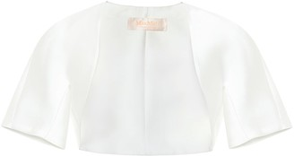Max Mara Chicco duchess-satin bridal jacket