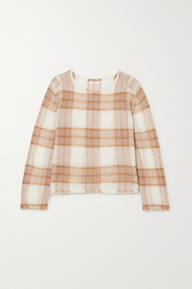 Vince Brushed Checked Knitted Sweater