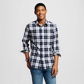 Mossimo Men's Plaid Button Down Shirt Dark Gray