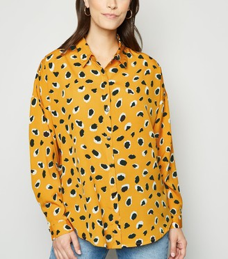 New Look Animal Print Long Sleeve Shirt