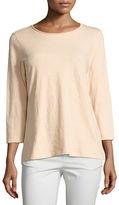 Eileen Fisher 3/4-Sleeve Slubby Organic Jersey Top