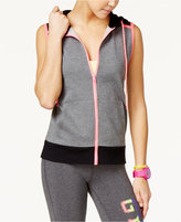 Material Girl Active Juniors' Sleeveless Hoodie, Only at Macy's