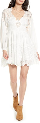Free People Lottie Long Sleeve Minidress