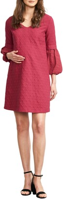 Maternal America Bubble Sleeve Maternity Shift Dress