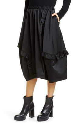 Comme des Garcons Ruffle Drawstring Nylon Midi Skirt