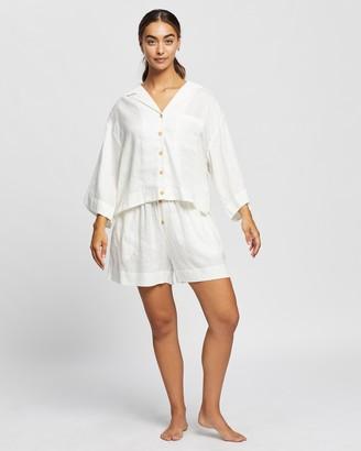 Homebodii Women's White Pyjamas - Riviera PJ Set - Size S at The Iconic