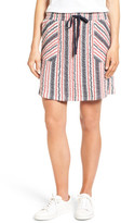 Caslon Drawstring Waist French Terry Skirt (Regular & Petite)