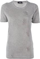 DSQUARED2 microstud accent T-shirt - women - Cotton/Aluminium - XS
