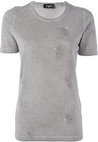 DSQUARED2 microstudded distressed T-shirt