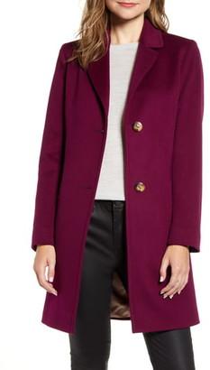 Fleurette Notched Collar Wool Walker Coat