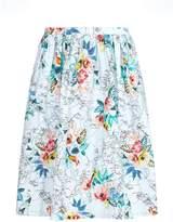 Yumi Tropical Flower Map Print Skirt