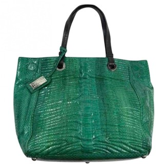 Badgley Mischka Green Leather Handbags