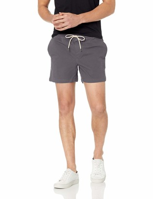 Goodthreads Amazon Brand Men's Standard 5 Inch Inseam Pull-On Stretch Canvas Short