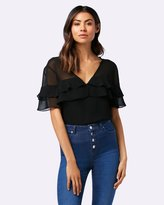 Forever New Willa Tiered Ruffle Bodysuit