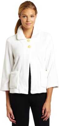 Casual Moments Women's Bed Jacket-Peter Pan Collar