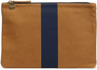 Clare Vivier Two-tone Painted Leather Pouch