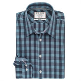 Thomas Pink Austin Check Slim Fit Button Cuff Shirt