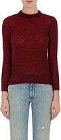 Simon Miller Women's Mohair-Blend Crewneck Sweater-BURGUNDY