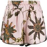 Schumacher Dorothee elasticated floral print silk shorts