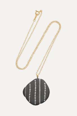 Cvc Stones Reach 18-karat Gold, Stone And Diamond Necklace - one size