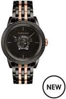 VERSACE Versace Palazzo Empire Black 3D Medusa 43mm Dial Black IP And Rose Gold Stainless Steel Bracelet Mens Watch