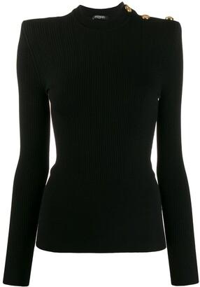 Balmain Knitted Ribbed Top