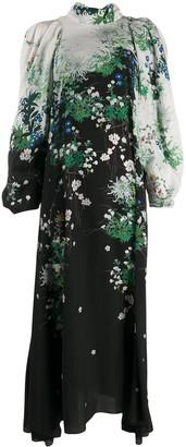 Givenchy long floral printed dress