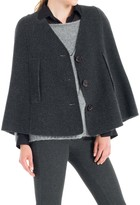Max Studio Houndstooth Faced Wool Cape