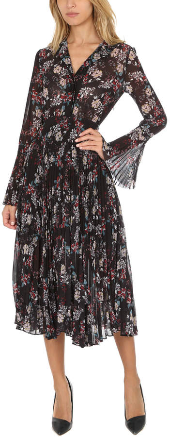 Nicholas Floral Chain Pleated Dress
