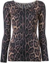N.Peal super fine print top - women - Cashmere - S