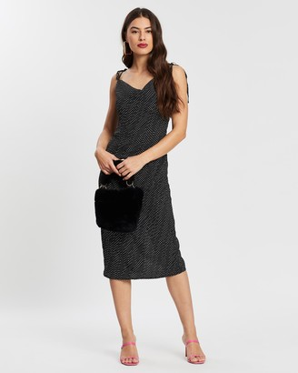 Missguided Spot Midi Slip Dress