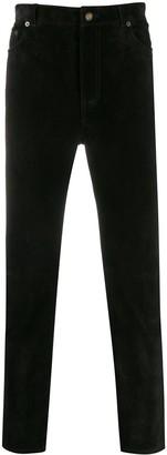 Saint Laurent Slim-Fit Velvet Trousers