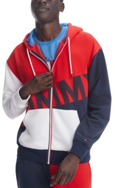 Tommy Hilfiger Men's Ziggy Colorblocked Full-Zip Logo Hoodie
