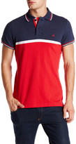 Micros Tailored Fit Short Sleeve Colorblock Polo