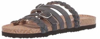 Muk Luks Women's Terri Terra Turf-Dark Grey Sandal 6 M US