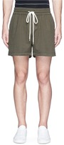 Bassike Drawstring twill shorts