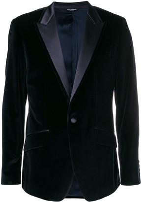 Dolce & Gabbana Peak Lapel Velour Blazer