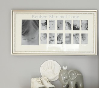 Pottery Barn Kids Silver Leaf First Year Frame
