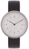 MMT C 13 stainless-steel and leather watch