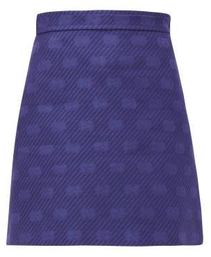 Gucci GG-jacquard Wool-blend Mini Skirt - Womens - Blue