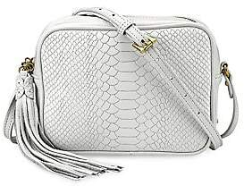 GiGi New York Women's Madison Python-Embossed Leather Crossbody Bag