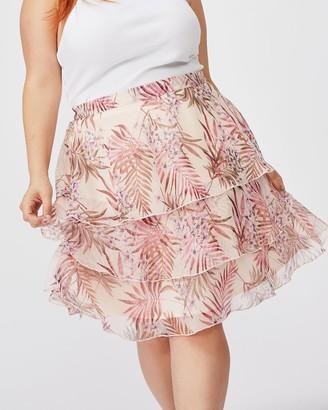 Cotton On Curve Woven Piper Mini Skirt