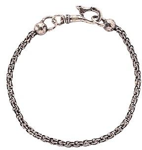 John Varvatos Sterling Silver Chain Bracelet
