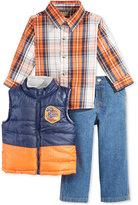 Nannette Little Boys' 3-Pc Vest, Shirt & Pants Set