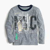 J.Crew Boys' long-sleeve NYC-SF T-shirt in the softest jersey